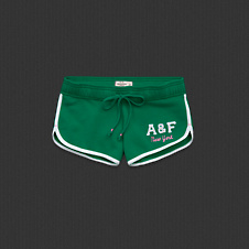 Womens A&F Curved Hem Shorts