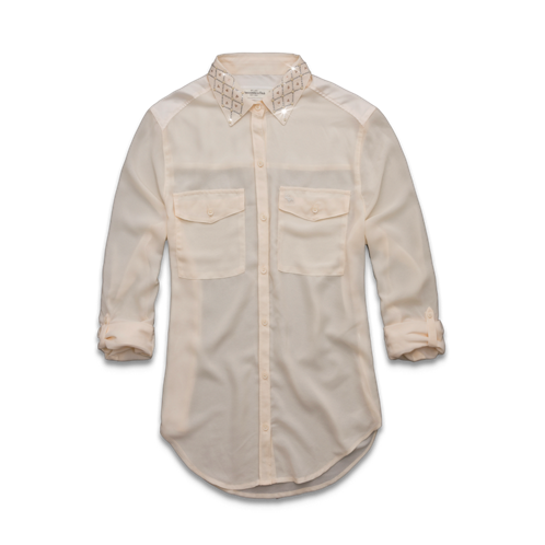 Womens Coby Shine Collar Shirt
