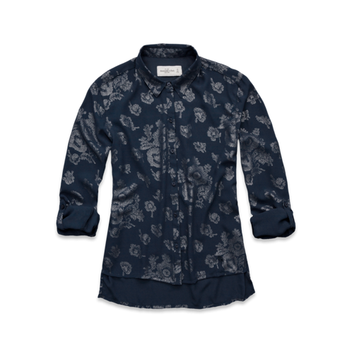 Womens Rylie Shine Print Shirt