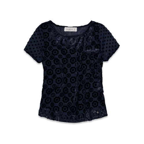 Womens Taylor Velvet Burnout Top