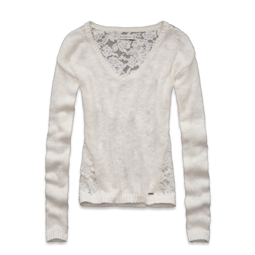 Womens Valarie Lace Back Sweater