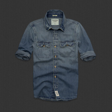 Mens Flagstaff Mountain Denim Shirt