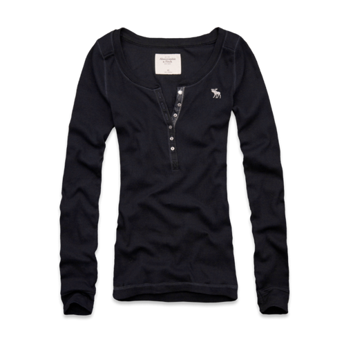 Womens Annabel Ribbed Henley
