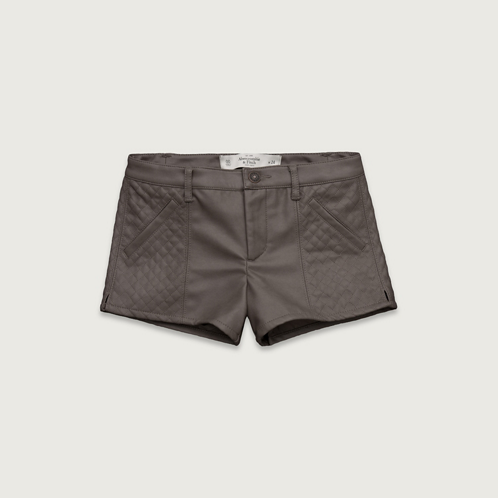 Womens A&F Vegan Leather Shorts