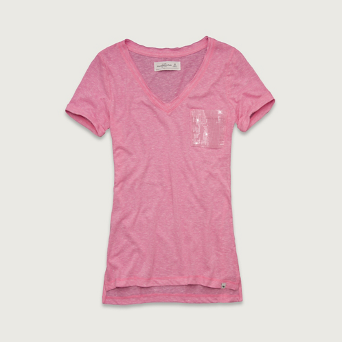 Womens Brittan Shine Pocket Tee
