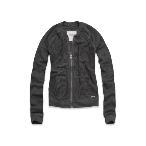 Womens Fiona Lace Bomber Jacket