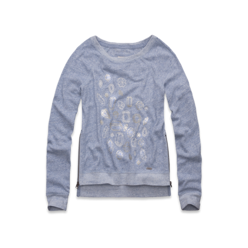 Womens Melanie Shine Sweatshirt