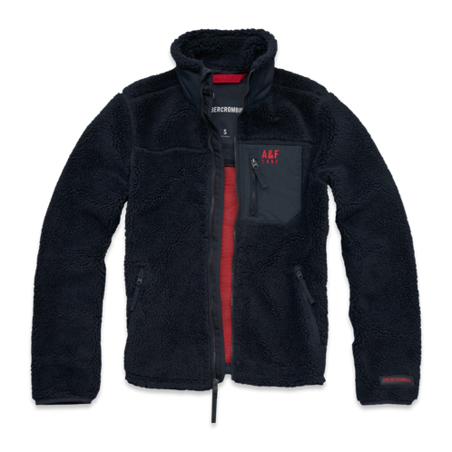 Mens A&F Mountain Fleece Jacket