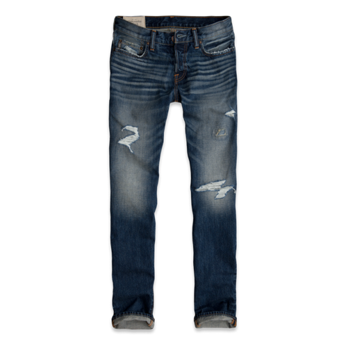 Mens A&F Slim Straight Jeans