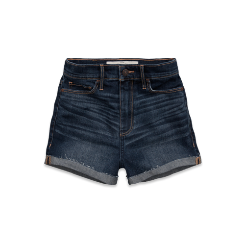 Womens A&F Natural Waist Short Shorts