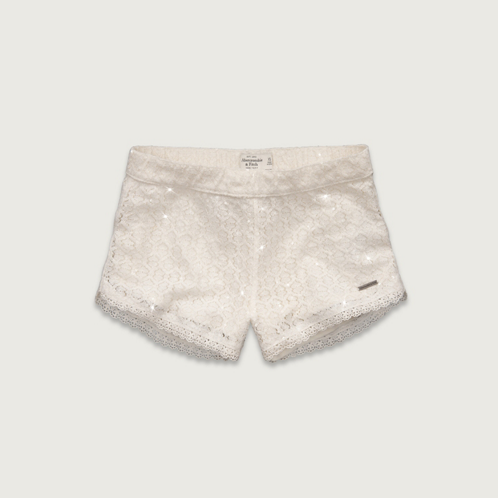 Womens A&F High Rise Sequin Shorts