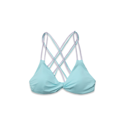 Womens Cross-Back Triangle Swim Top
