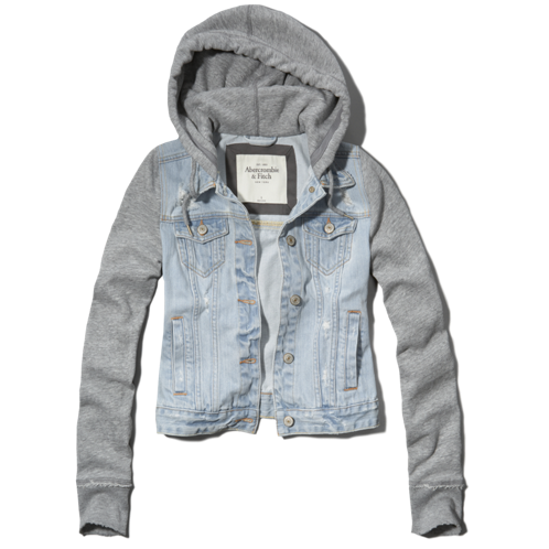 Womens Denim Jacket Hoodie