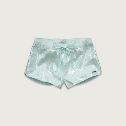 Womens A&F Mid Rise Sequin Shorts