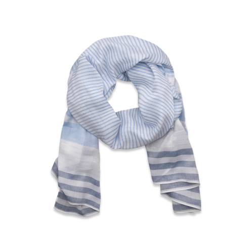 Womens Nautical Striped Scarf