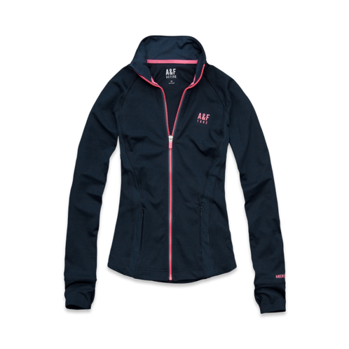 Tops A&F Active Full-Zip