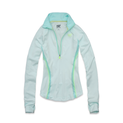 Womens A&F Active Half-Zip Pullover