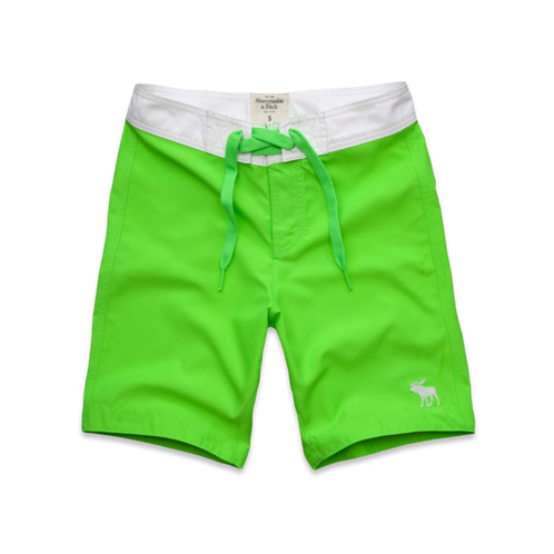 Mens A&F Classic Fit Swim Shorts