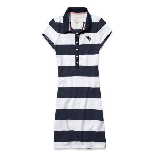 Womens Micah Striped Polo Dress