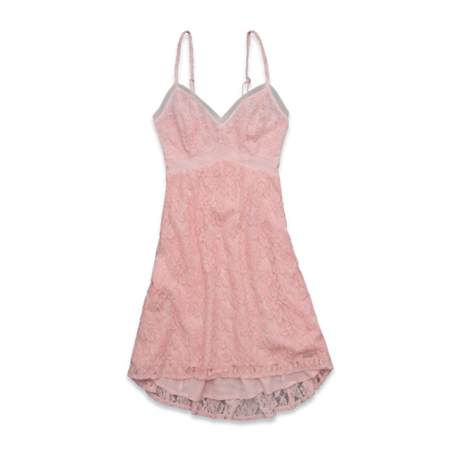 Womens Maura Lace Babydoll Dress