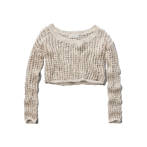 Womens Parker Cropped Shine Sweater