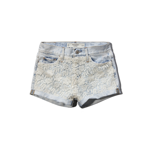 Womens A&F High Rise Short-Shorts