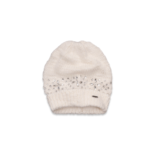 Womens Jewel Embellished Beanie