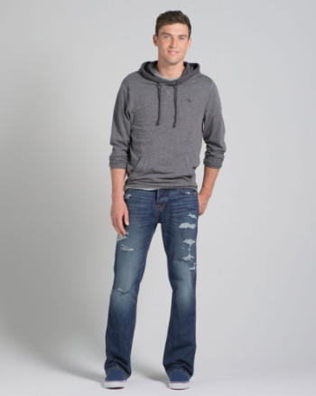 Mens A&F Boot Button Fly Jeans
