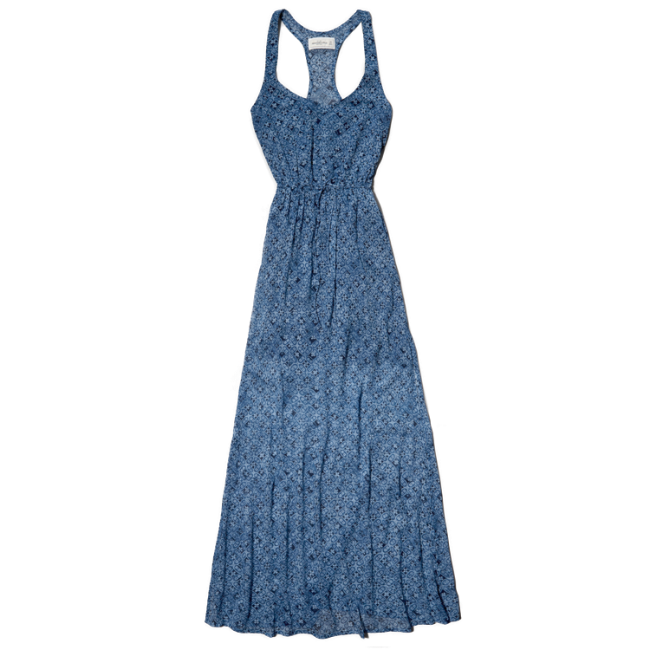 Womens Iris Chiffon Maxi Dress
