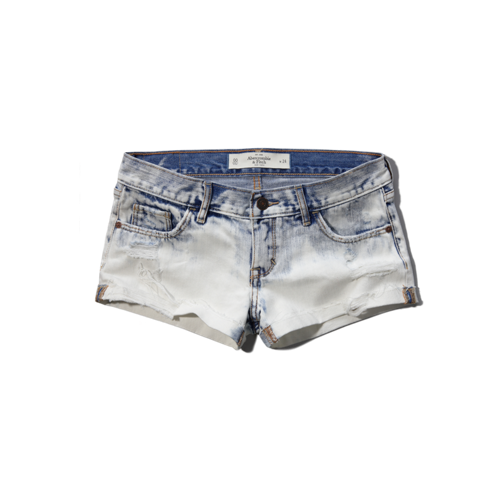 Womens A&F Low Rise Short-Shorts