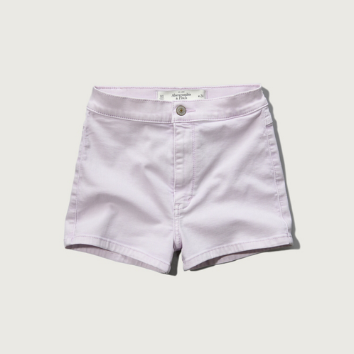 Womens A&F Natural Waist Short-Shorts