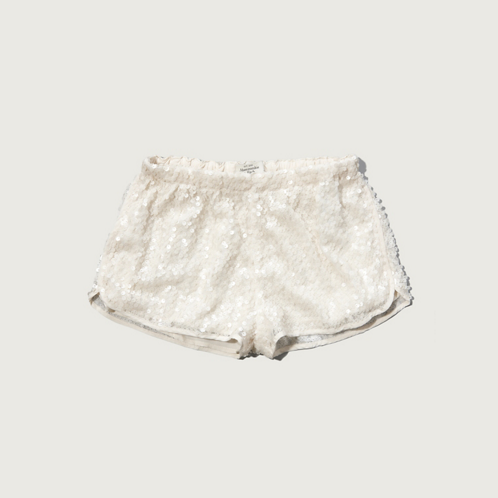 Womens A&F Sequin Drapey Shorts