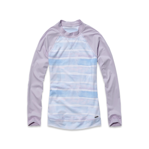 Womens Striped Rash Guard