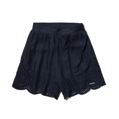 Womens Ashton Natural Waist Culotte Shorts