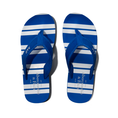 Mens Fabric & Rubber Flip Flops