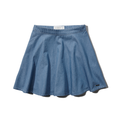Womens Skye Denim Skater Skirt