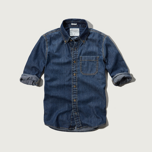 Mens Saranac Lake Denim Shirt