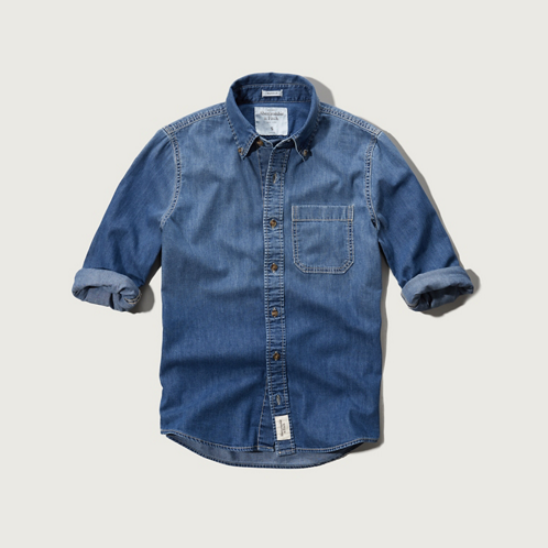 Mens Northside Trail Denim Shirt
