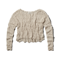 Womens Zoe Crochet Sweater