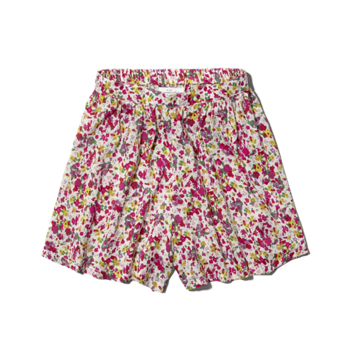 Womens Megan Natural Waist Culotte Shorts