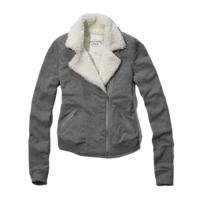 Womens Cass Fleece Moto jacket