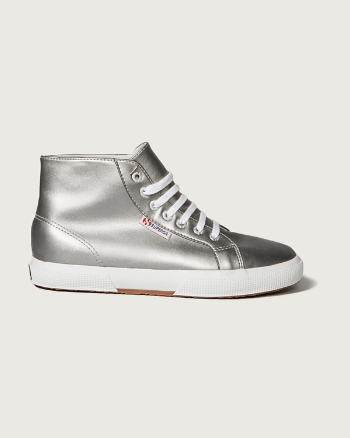 Womens Superga With A&F<br/>Silver High-Top Sneaker