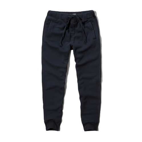 Mens A&F Cuffed Jogger Sweatpants