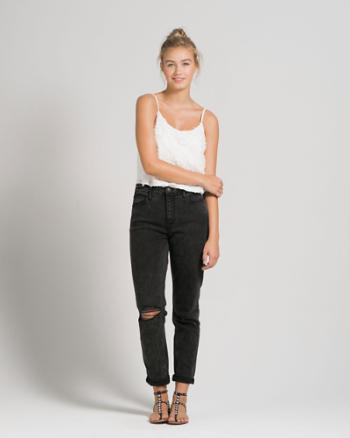 Womens A&F Allie High RIse Boyfriend Jeans