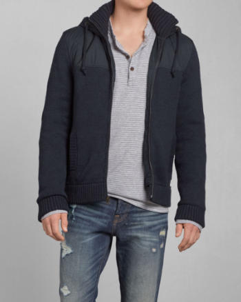 Mens Big Slide Mountain Sweater Jacket