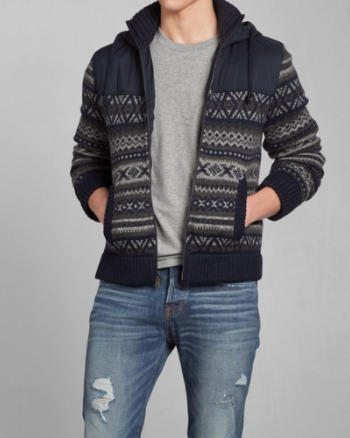 Mens Bald Peak Sweater Jacket