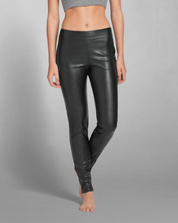 Womens Laura Faux Leather Legging