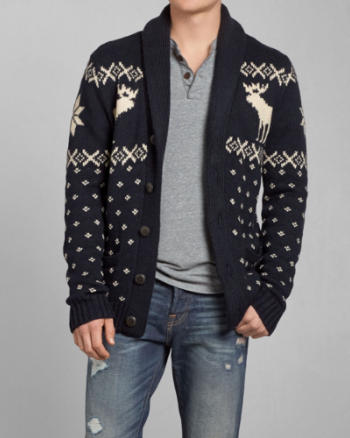 Mens Round Mountain Cardigan