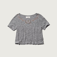 Womens Jane Embellished Tee