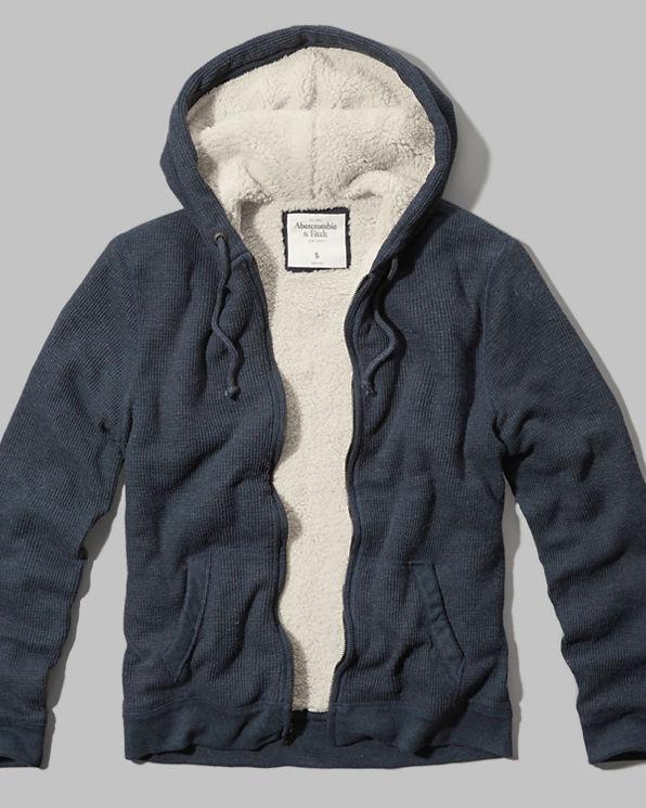 Waffle lined hoodie